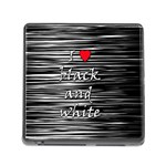 I love black and white 2 Memory Card Reader (Square) Front
