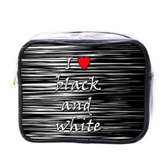 I Love Black And White 2 Mini Toiletries Bags