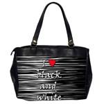 I love black and white 2 Office Handbags (2 Sides)  Back