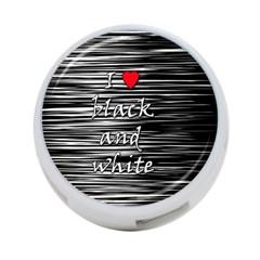 I love black and white 2 4-Port USB Hub (One Side)