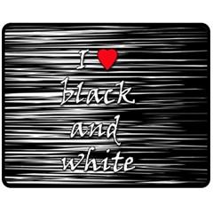 I love black and white 2 Fleece Blanket (Medium)
