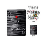 I love black and white 2 Playing Cards 54 (Mini)  Front - SpadeQ