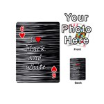 I love black and white 2 Playing Cards 54 (Mini)  Front - Heart6