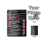 I love black and white 2 Playing Cards 54 (Mini)  Front - Joker2