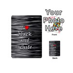 I love black and white 2 Playing Cards 54 (Mini)  Back