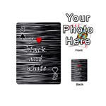 I love black and white 2 Playing Cards 54 (Mini)  Front - SpadeJ