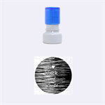 I love black and white 2 Rubber Round Stamps (Small) 1.12 x1.12  Stamp