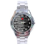 I love black and white 2 Stainless Steel Analogue Watch Front