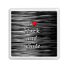 I Love Black And White 2 Memory Card Reader (square)  by Valentinaart
