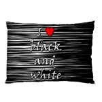 I love black and white 2 Pillow Case (Two Sides) Back