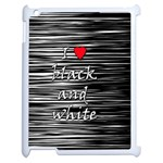 I love black and white 2 Apple iPad 2 Case (White) Front