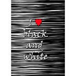 I love black and white 2 Circle Bottom 3D Greeting Card (7x5) Inside