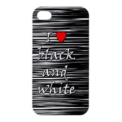 I Love Black And White 2 Apple Iphone 4/4s Hardshell Case