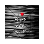 I love black and white 2 Acrylic Tangram Puzzle (6  x 6 ) Front