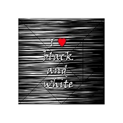 I Love Black And White 2 Acrylic Tangram Puzzle (4  X 4 ) by Valentinaart