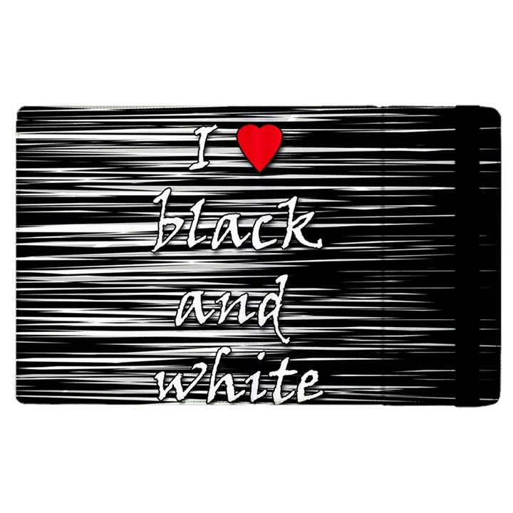 I love black and white 2 Apple iPad 2 Flip Case