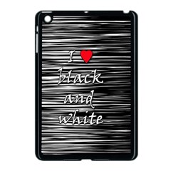 I Love Black And White 2 Apple Ipad Mini Case (black)
