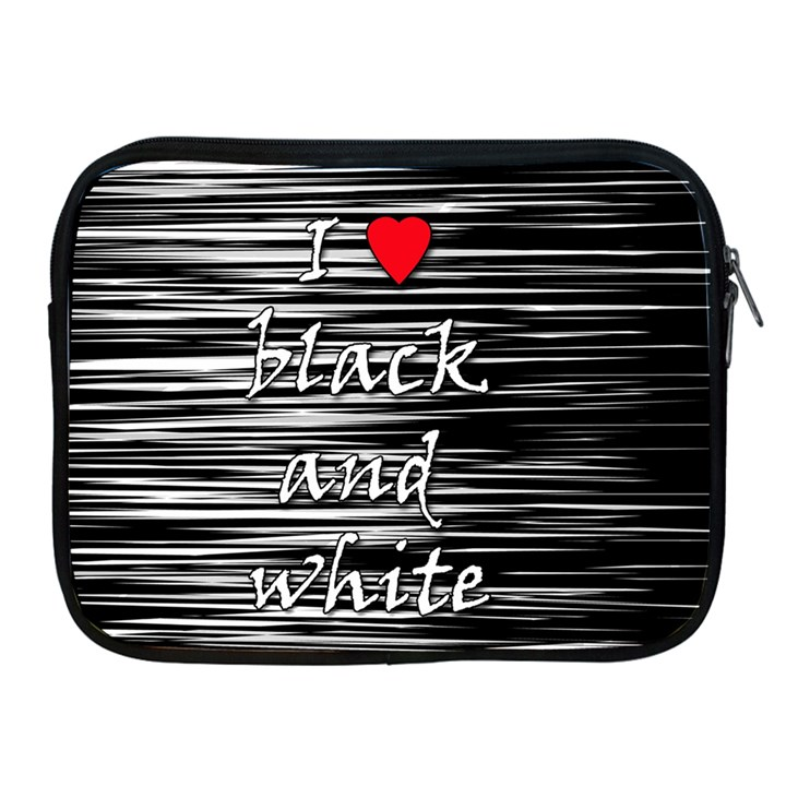 I love black and white 2 Apple iPad 2/3/4 Zipper Cases