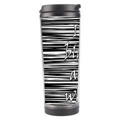 I Love Black And White 2 Travel Tumbler