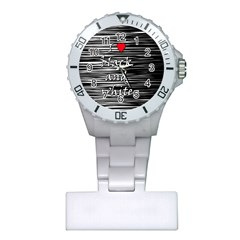 I Love Black And White 2 Plastic Nurses Watch