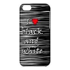 I love black and white 2 Apple iPhone 5C Hardshell Case