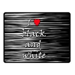 I love black and white 2 Double Sided Fleece Blanket (Small)  45 x34 Blanket Back