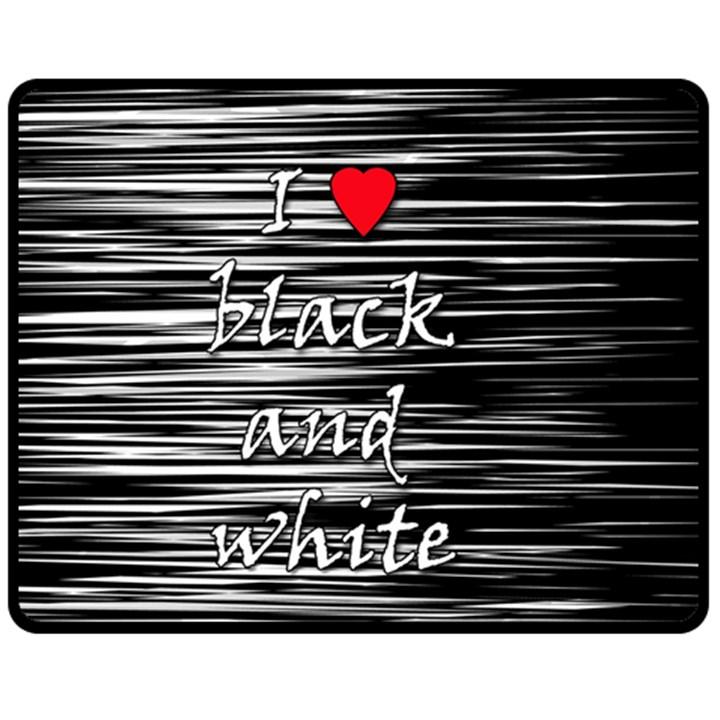I love black and white 2 Double Sided Fleece Blanket (Medium)