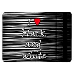 I love black and white 2 Samsung Galaxy Tab Pro 12.2  Flip Case Front