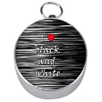 I love black and white 2 Silver Compasses Front