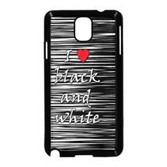I love black and white 2 Samsung Galaxy Note 3 Neo Hardshell Case (Black)