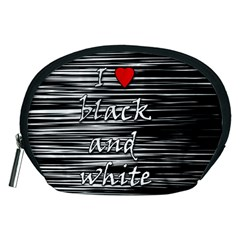 I Love Black And White 2 Accessory Pouches (medium)