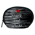 I love black and white 2 Accessory Pouches (Medium)  Front