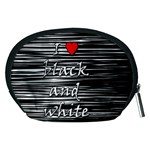 I love black and white 2 Accessory Pouches (Medium)  Back