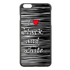 I Love Black And White 2 Apple Iphone 6 Plus/6s Plus Black Enamel Case