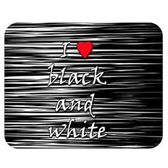 I love black and white 2 Double Sided Flano Blanket (Medium)