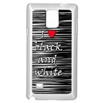 I love black and white 2 Samsung Galaxy Note 4 Case (White) Front
