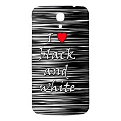I Love Black And White 2 Samsung Galaxy Mega I9200 Hardshell Back Case