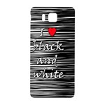 I love black and white 2 Samsung Galaxy Alpha Hardshell Back Case Front