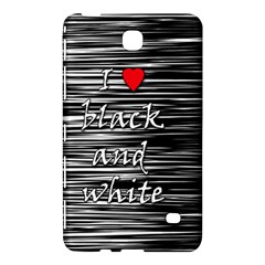 I Love Black And White 2 Samsung Galaxy Tab 4 (7 ) Hardshell Case  by Valentinaart