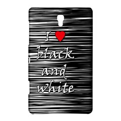 I Love Black And White 2 Samsung Galaxy Tab S (8 4 ) Hardshell Case  by Valentinaart