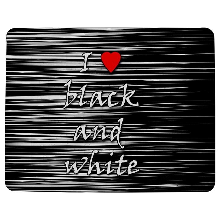 I love black and white 2 Jigsaw Puzzle Photo Stand (Rectangular)