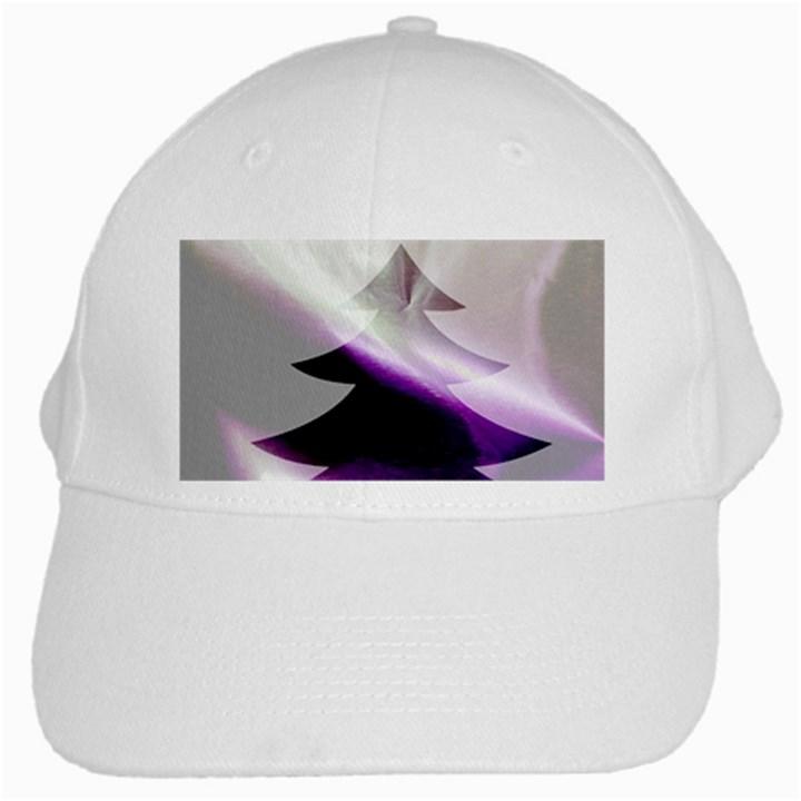 Purple Christmas Tree White Cap