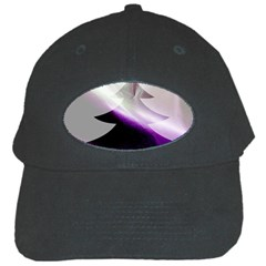 Purple Christmas Tree Black Cap by yoursparklingshop