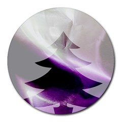 Purple Christmas Tree Round Mousepads by yoursparklingshop