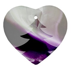 Purple Christmas Tree Ornament (heart)