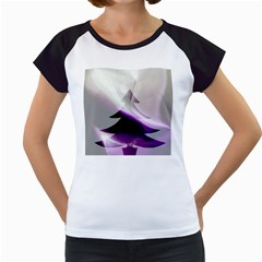 Purple Christmas Tree Women s Cap Sleeve T