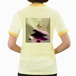 Purple Christmas Tree Women s Fitted Ringer T-Shirts Back
