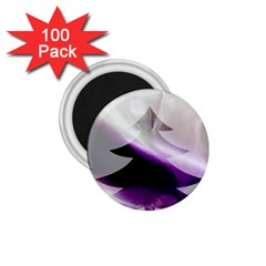 Purple Christmas Tree 1 75  Magnets (100 Pack)  by yoursparklingshop
