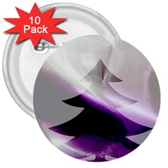 Purple Christmas Tree 3  Buttons (10 Pack)  by yoursparklingshop