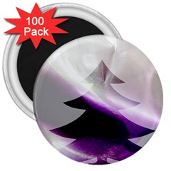Purple Christmas Tree 3  Magnets (100 Pack)